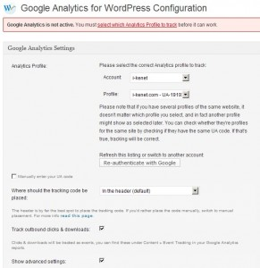 Google-Analytics for WordPress