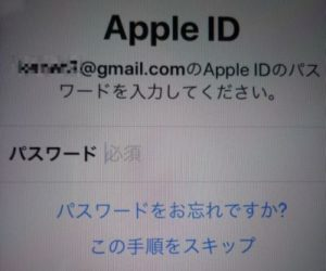 Apple ID入力